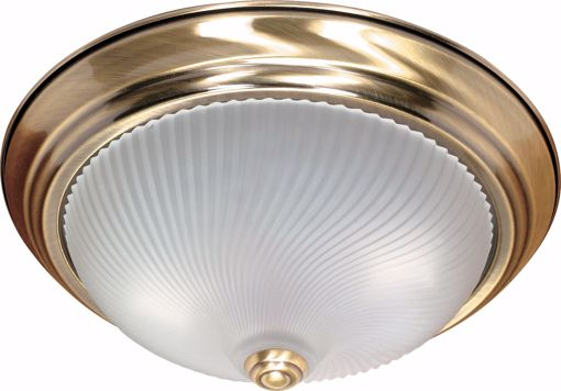 """Picture of NUVO Lighting 60/238 2 Light - 13"""" - Flush Mount - Frosted Swirl Glass"""