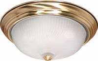 """Picture of NUVO Lighting 60/239 3 Light - 15"""" - Flush Mount - Frosted Swirl Glass"""