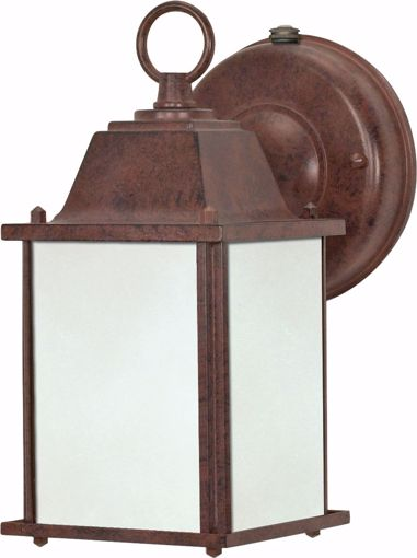 Picture of NUVO Lighting 60/2528 Cube Lantern ES - 1 Light Wall Lantern with Frosted Beveled Glass - (Lamp Included)