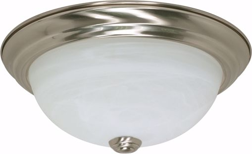 """Picture of NUVO Lighting 60/2621 2 Light ES 11"""" Flush Fixture with Alabaster Glass - (2) 13w GU24 Lamps Included"""