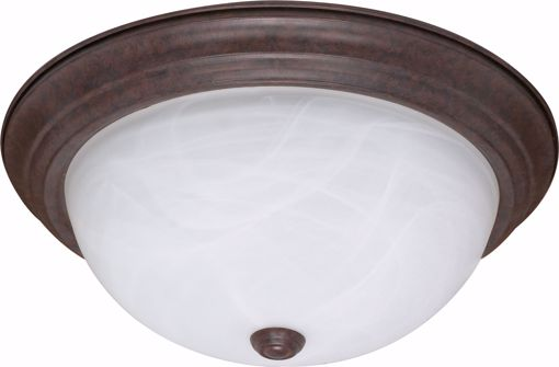"""Picture of NUVO Lighting 60/2627 3 Light ES 15"""" Flush Fixture with Alabaster Glass - (3) 13w GU24 Lamps Included"""