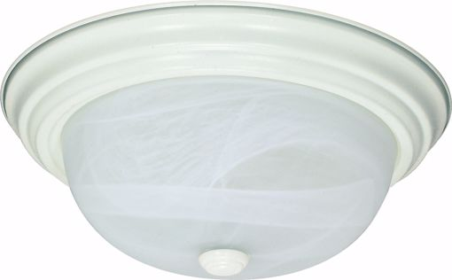 """Picture of NUVO Lighting 60/2628 2 Light ES 11"""" Flush Fixture with Alabaster Glass - (2) 13w GU24 Lamps Included"""
