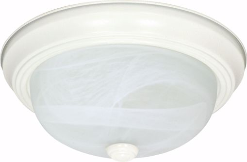 """Picture of NUVO Lighting 60/2631 3 Light ES 15"""" Flush Fixture with Alabaster Glass - (3) 13w GU24 Lamps Included"""
