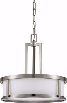 Picture of NUVO Lighting 60/2857 Odeon - 4 Light Pendant with Satin White Glass