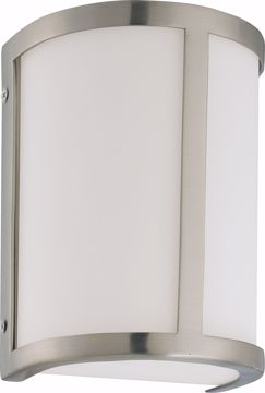 Picture of NUVO Lighting 60/2868 Odeon - 1 Light Wall Sconce with Satin White Glass