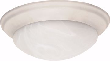"Picture of NUVO Lighting 60/288 3 Light - 17"" - Flush Mount - Twist & Lock with Alabaster Glass"