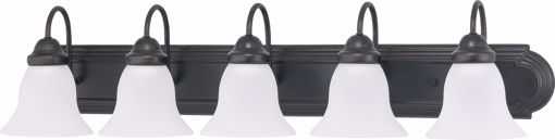 """Picture of NUVO Lighting 60/3164 Ballerina - 5 Light 36"""" Vanity with Frosted White Glass"""