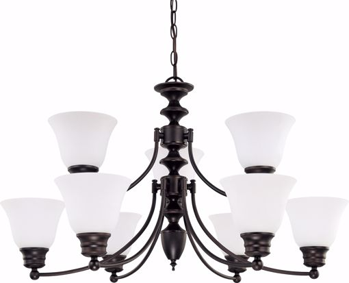 "Picture of NUVO Lighting 60/3171 Empire - 9 Light 32"" Chandelier with Frosted White Glass"