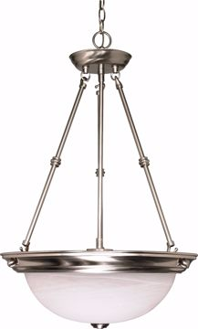 "Picture of NUVO Lighting 60/3187 3 Light 15"" Pendant with Alabaster Glass - (3) 13w GU24 Lamps Included"