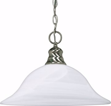 "Picture of NUVO Lighting 60/3198 1 Light 16"" Pendant with Alabaster Glass - (1) 18w GU24 Lamp Included"