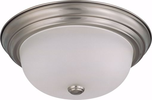 "Picture of NUVO Lighting 60/3262 2 Light 13"" Flush Mount with Frosted White Glass"