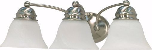 """Picture of NUVO Lighting 60/342 Empire - 3 Light - 21"""" - Vanity - with Alabaster Glass Bell Shades"""