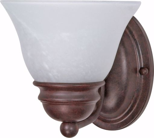 """Picture of NUVO Lighting 60/344 Empire - 1 Light - 7"""" - Vanity - with Alabaster Glass Bell Shades"""