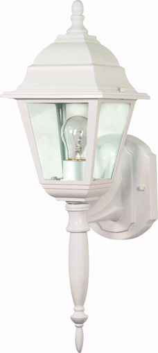 "Picture of NUVO Lighting 60/3453 Briton - 1 Light - 18"" - Wall Lantern - with Clear Seed Glass; Color retail packaging"