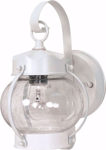 """Picture of NUVO Lighting 60/3457 1 Light - 11"""" - Wall Lantern - Onion Lantern with Clear Seed Glass; Color retail packaging"""