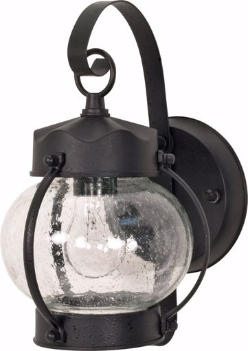 "Picture of NUVO Lighting 60/3459 1 Light - 11"" - Wall Lantern - Onion Lantern with Clear Seed Glass; Color retail packaging"