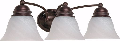 """Picture of NUVO Lighting 60/346 Empire - 3 Light - 21"""" - Vanity - with Alabaster Glass Bell Shades"""
