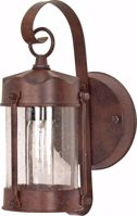 """Picture of NUVO Lighting 60/3461 1 Light - 11"""" - Wall Lantern - Piper Lantern with Clear Seed Glass; Color retail packaging"""
