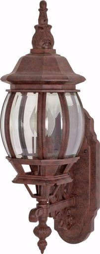 """Picture of NUVO Lighting 60/3468 Central Park - 1 Light - 20"""" - Wall Lantern - with Clear Beveled Glass; Color retail packaging"""