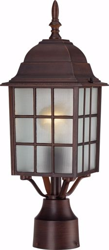 """Picture of NUVO Lighting 60/3483 Adams - 1 Light - 17"""" Outdoor Post with Frosted Glass; Color retail packaging"""