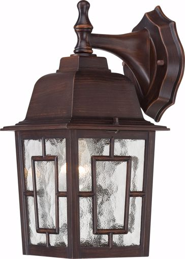 "Picture of NUVO Lighting 60/3485 Banyan - 1 Light - 12"" Outdoor Wall with Clear Water Glass; Color retail packaging"