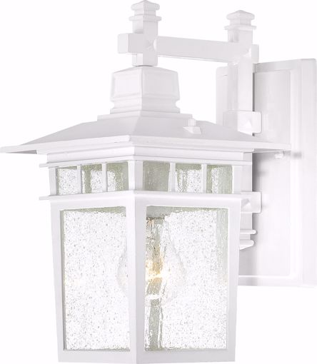 """Picture of NUVO Lighting 60/3491 Cove Neck - 1 Light - 12"""" Outdoor Lantern with Clear Seed Glass; Color retail packaging"""