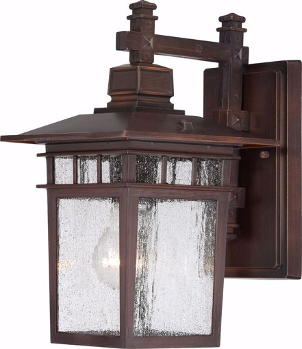 "Picture of NUVO Lighting 60/3492 Cove Neck - 1 Light - 12"" Outdoor Lantern with Clear Seed Glass; Color retail packaging"