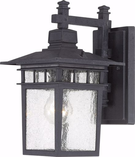 "Picture of NUVO Lighting 60/3493 Cove Neck - 1 Light - 12"" Outdoor Lantern with Clear Seed Glass; Color retail packaging"