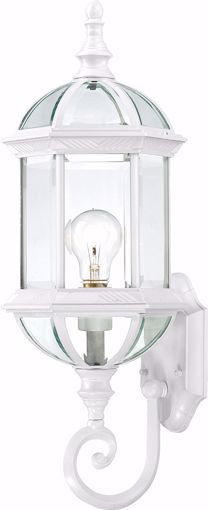 """Picture of NUVO Lighting 60/3497 Boxwood - 1 Light 22"""" Outdoor Wall with Clear Beveled Glass; Color retail packaging"""