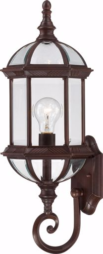 """Picture of NUVO Lighting 60/3498 Boxwood - 1 Light 22"""" Outdoor Wall with Clear Beveled Glass; Color retail packaging"""