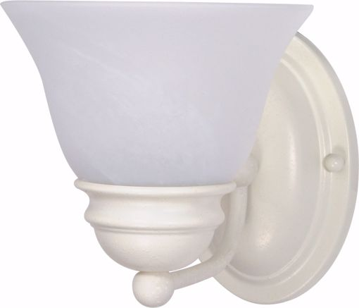 """Picture of NUVO Lighting 60/352 Empire - 1 Light - 7"""" - Vanity - with Alabaster Glass Bell Shades"""