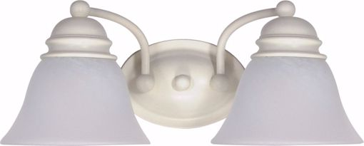 "Picture of NUVO Lighting 60/353 Empire - 2 Light - 15"" - Vanity - with Alabaster Glass Bell Shades"