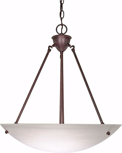 "Picture of NUVO Lighting 60/371 3 Light - 23"" - Pendant - Alabaster Glass Bowl"