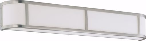 Picture of NUVO Lighting 60/3804 Odeon ES - 4 Light Wall Sconce with White Glass - (4) 13w GU24 Lamps Included