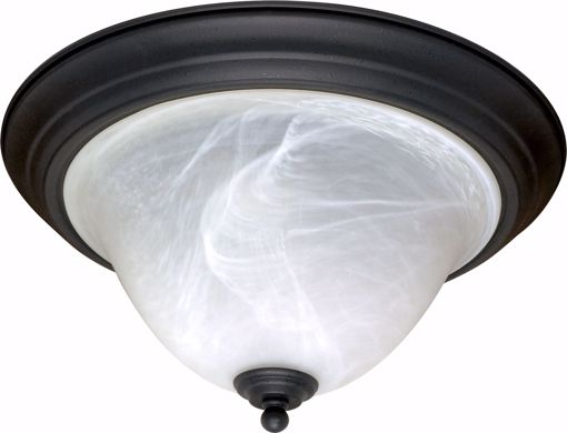 """Picture of NUVO Lighting 60/383 Castillo - 2 Light - 16"""" - Flush Mount - with Alabaster Swirl Glass"""