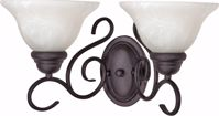 """Picture of NUVO Lighting 60/388 Castillo - 2 Light - 18"""" - Wall Fixture - with Alabaster Swirl Glass"""