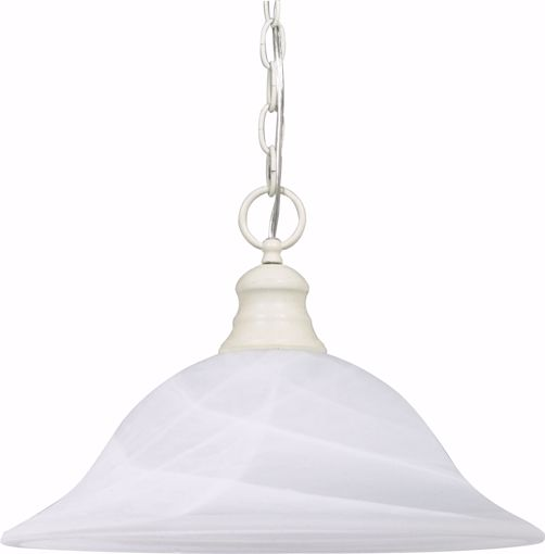 "Picture of NUVO Lighting 60/393 1 Light - 16"" - Pendant - Alabaster Glass"