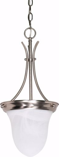 "Picture of NUVO Lighting 60/394 1 Light - 10"" - Pendant - Alabaster Glass Bell"