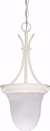 "Picture of NUVO Lighting 60/397 1 Light - 10"" - Pendant - Alabaster Glass Bell"