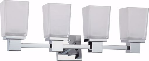 Picture of NUVO Lighting 60/4004 Parker - 4 Light Vanity Fixture with Sandstone Etched Glass