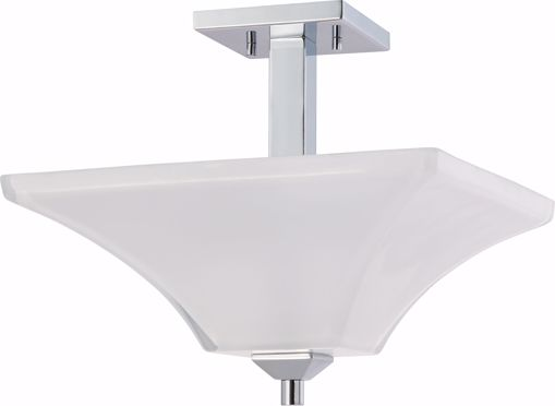 Picture of NUVO Lighting 60/4007 Parker - 2 Light Semi Flush Fixture with Sandstone Etched Glass