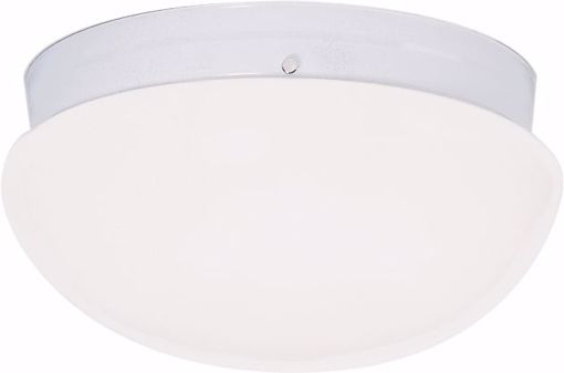 """Picture of NUVO Lighting 60/404 2 Light CFL - 12"""" - Large White Mushroom - (2) 18W GU24 Lamps Included"""