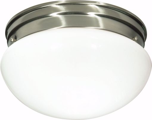 """Picture of NUVO Lighting 60/405 2 Light CFL - 10"""" - Medium White Mushroom - (2) 13W GU24 Lamps Included"""