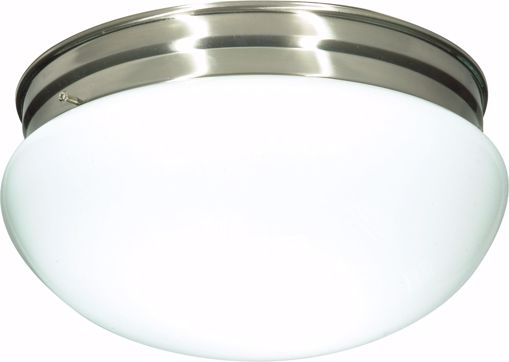"""Picture of NUVO Lighting 60/406 2 Light CFL - 12"""" - Large White Mushroom - (2) 18W GU24 Lamps Included"""