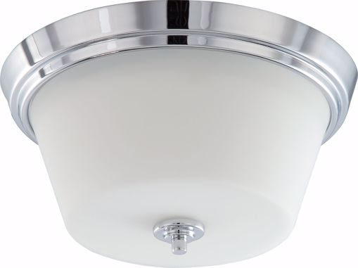 Picture of NUVO Lighting 60/4088 Bento - 2 Light Flush Fixture with Satin White Glass