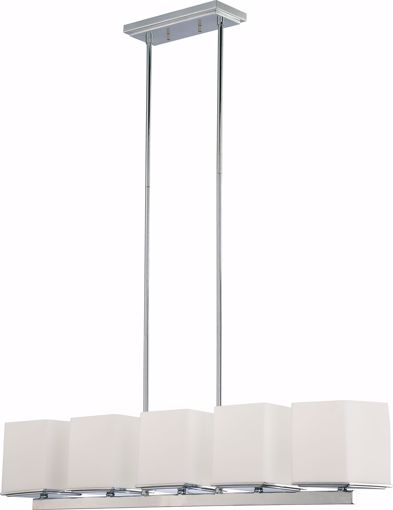 Picture of NUVO Lighting 60/4091 Bento - 5 Light Island Pendant with Satin White Glass