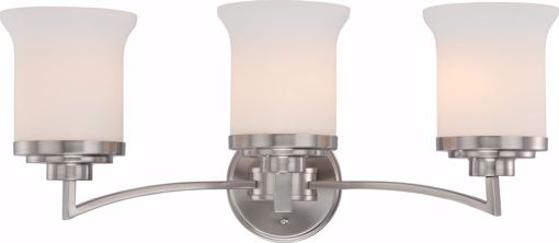 Picture of NUVO Lighting 60/4103 Harmony - 3 Light Vanity Fixture with Satin White Glass