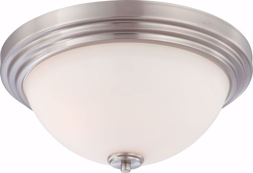 Picture of NUVO Lighting 60/4112 Harmony - 3 Light Flush Dome Fixture with Satin White Glass
