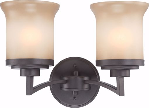 Picture of NUVO Lighting 60/4122 Harmony - 2 Light Vanity Fixture with Saffron Glass