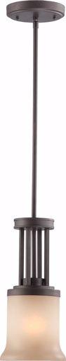 Picture of NUVO Lighting 60/4128 Harmony - 1 Light Mini Pendant with Saffron Glass